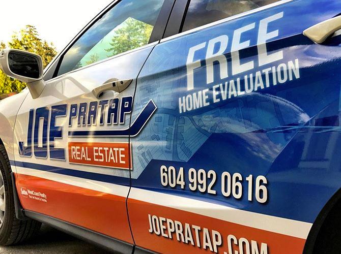 real estate agent car wrap