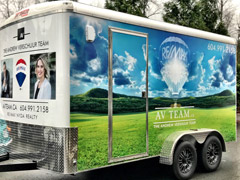 remax realtor vehicle trailer wrap