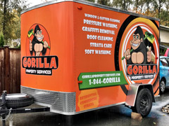 service trailer vehicle wrap