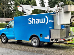 shaw service truck vehicle wrap