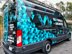 service vehicle vinyl wrap