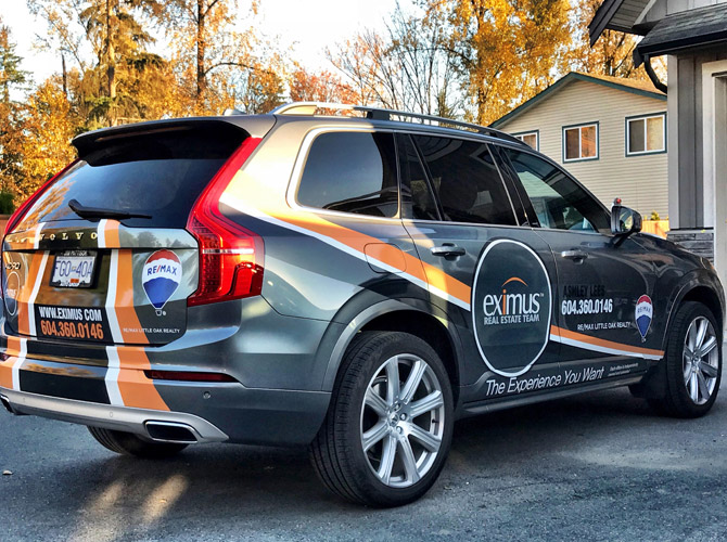 vinyl suv wrap for real estate agent