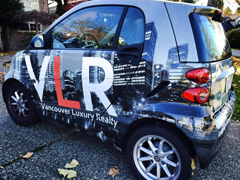 car wrap for vancouver real estate agent