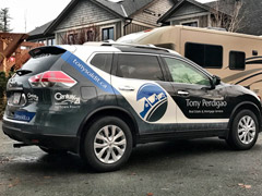 vehicle wrap for real estate agent