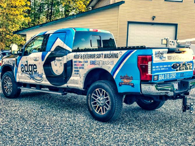 vinyl work truck wrap