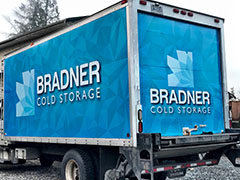 bradner cold storage van wrap