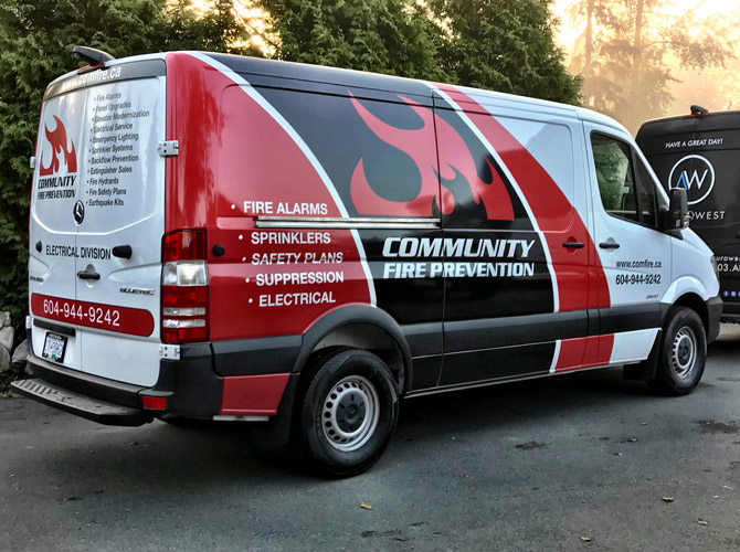 Vinyl vehicle wraps for sprinter vans