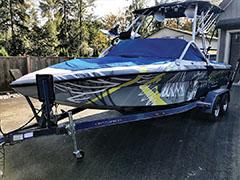 Abbotsford vinyl boat wrap