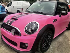 colour change car wrap pink