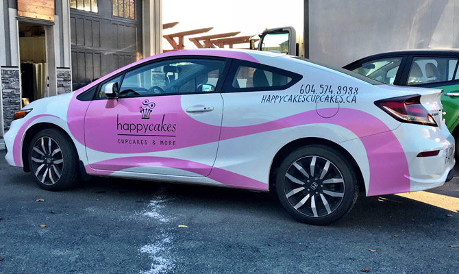Business car wraps in West Vancouver