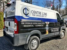 Centre Line Fire Sprinklers van wrap