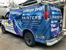 College Pro Painters van wrap