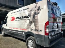 Dynamic Equipment Rentals full vehicle wrap
