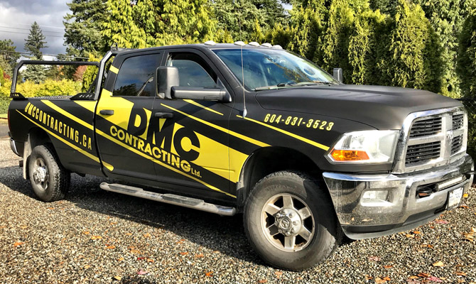Business vehicle wraps in Mission