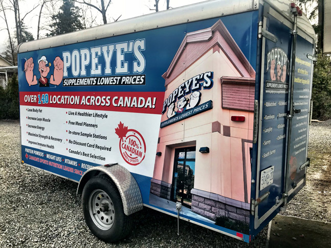 Popeye's trailer wrap