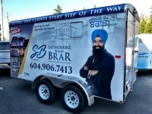Satinderpal Singh Brar trailer wrap