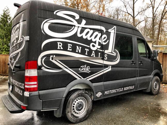 Stage 1 Rentals Van Wrap