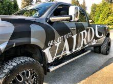 Valroc truck wrap