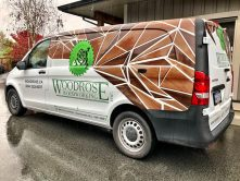 Woodrose Woodworking van wrap
