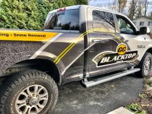 Blacktop truck wrap