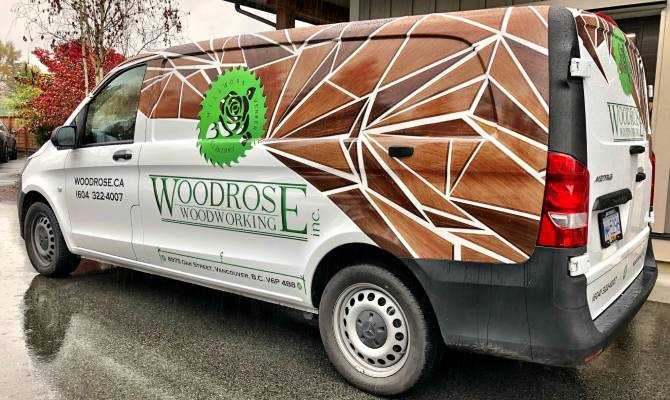 Business vehicle wraps in Squamish