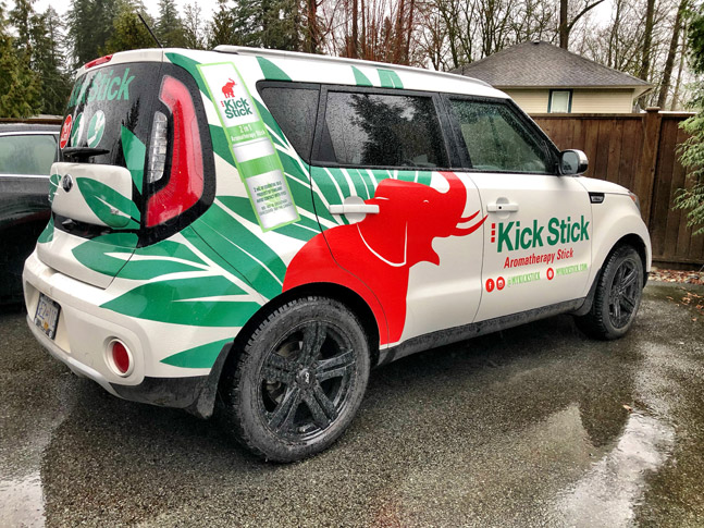 Kick Stick car wrap