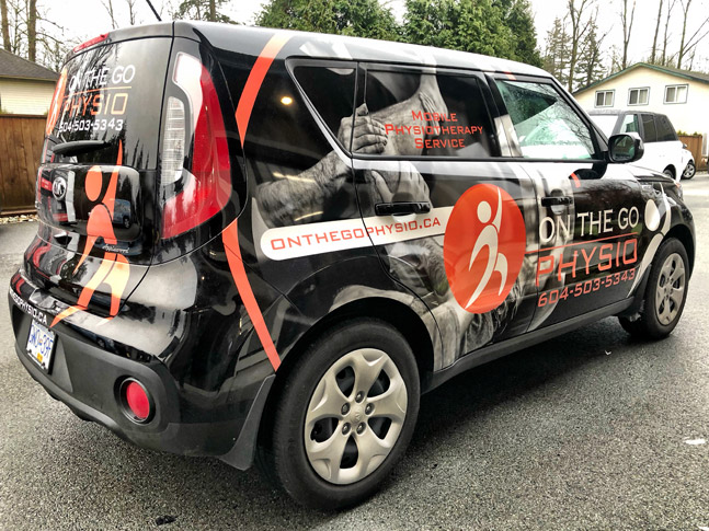 On The Go Physio vehicle wrap