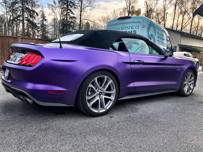 Personal purple car wrap
