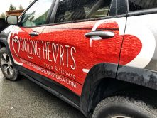 Smiling Hearts vehicle wrap