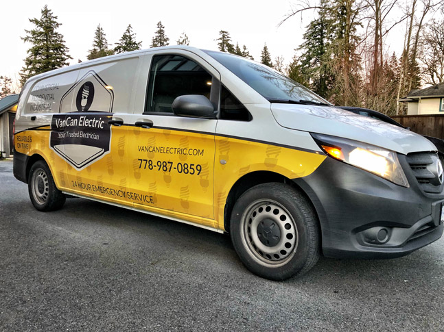 VanCan Electric van wrap