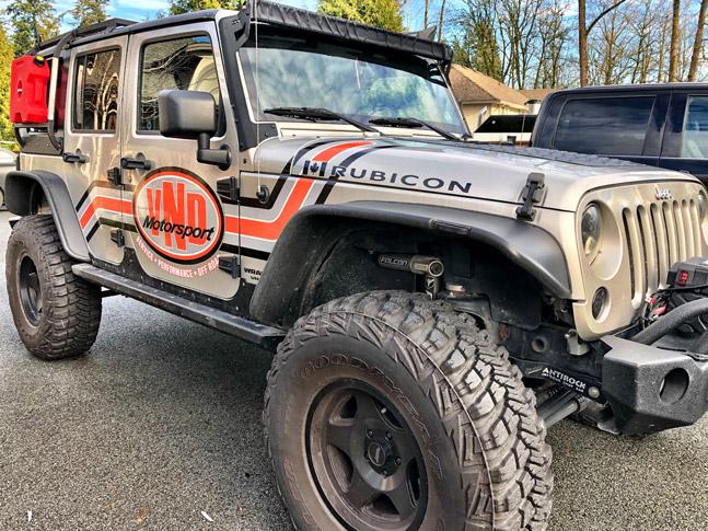 VND Motorsport jeep wrap