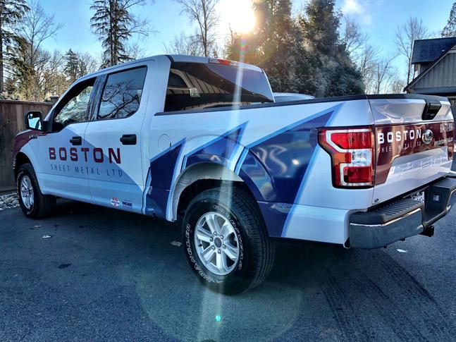 Boston Sheet Metal truck wrap