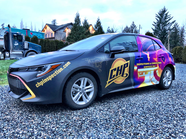 CHP Inspection & Consulting Services car wrap