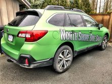 North Shore Bike Shop SUV wrap