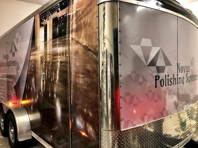 Novus Polishing Systems trailer wrap