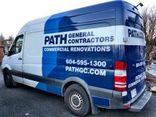 Path General Contractors van wraps