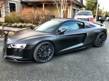 Personal matte black car wrap