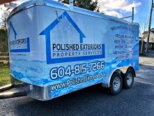 Polished Exteriors Property Services trailer wrap