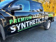 Premium Grass Blades truck wrap