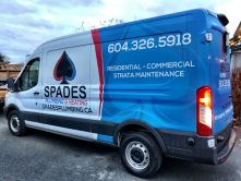 Spades Plumbing & Heating van wrap