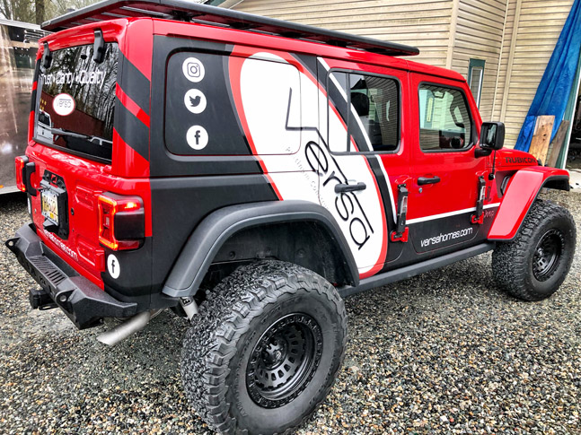 Versa Homes jeep wrap
