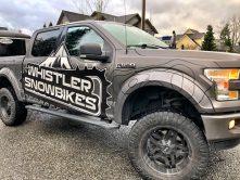 Whistler Snowbikes truck wrap