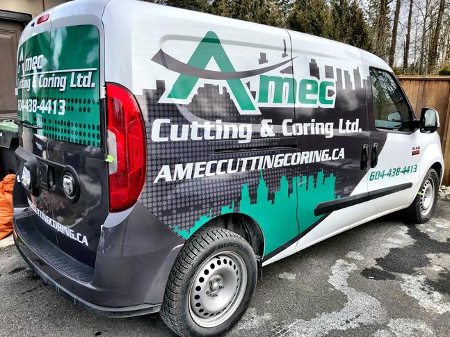 Amec Cutting & Coring Ltd. van wrap