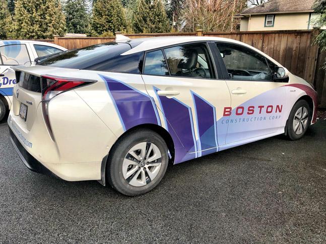 Boston Construction car wrap