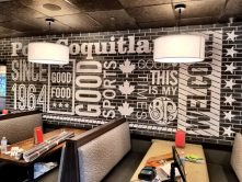 Boston Pizza wall wrap