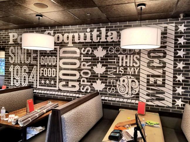 Boston Pizza wall wrap