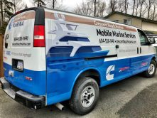 Crescent Beach Marina van wrap