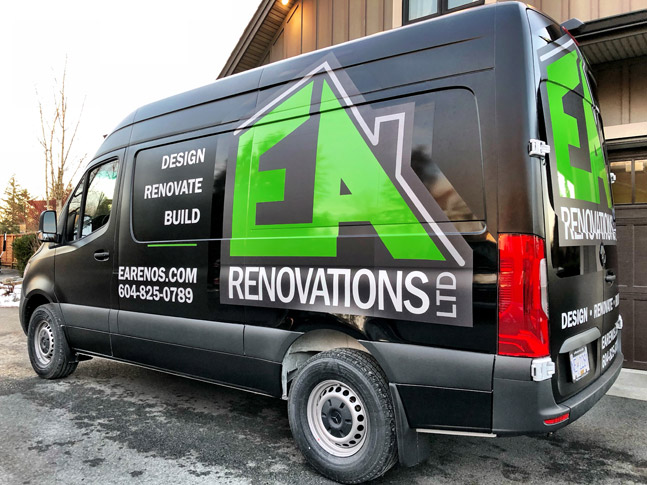 EA Renovations Ltd. van wrap