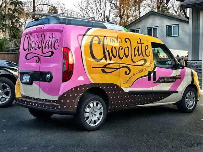 Into Chocolate car wrap