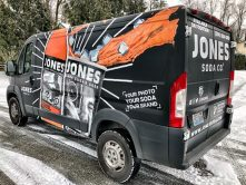 Jones Soda van wrap